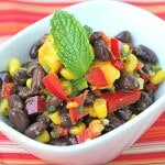 Anticancer Fireworks Black Bean Salsa