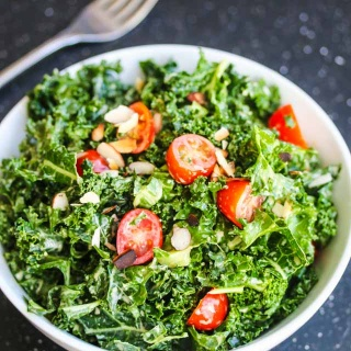 Kale Avocado Salad and Simply Sauteed Leafy Green Vegetables