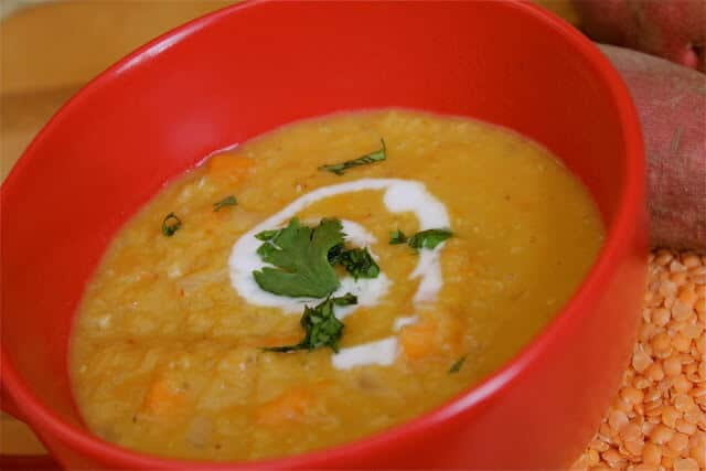 Thai Coconut Curry Lentil Soup ~ http://jeanetteshealthyliving.com