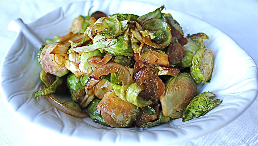 Soy Sauce Glazed Brussels Sprouts and Roasted Brussels Sprouts Winter Squash