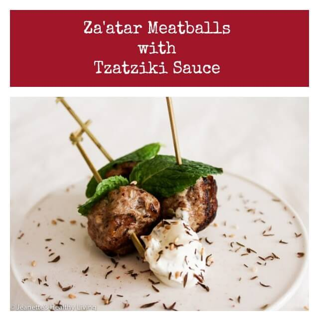 Za'atar meatballs with Tzatziki Sauce - great appetizer for entertaining