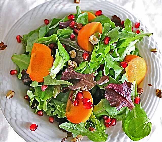 ... Salads {Persimmon Pomegranate Salad and Pink Grapefruit Avocado Salad