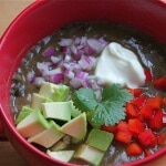 Cuban Black Bean Soup ~ http://jeanetteshealthyliving.com