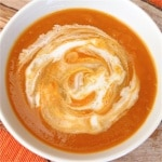 Creamy Carrot Soup ~ http://jeanetteshealthyliving.com