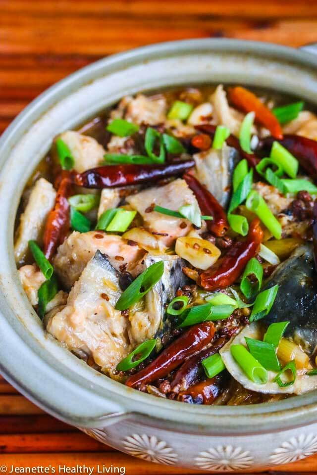 Chinese szechuan spicy fish soup jeanettes healthy living chinese szechuan spicy fish soup gets its spicy rich flavor from hot bean sauce dried forumfinder Choice Image