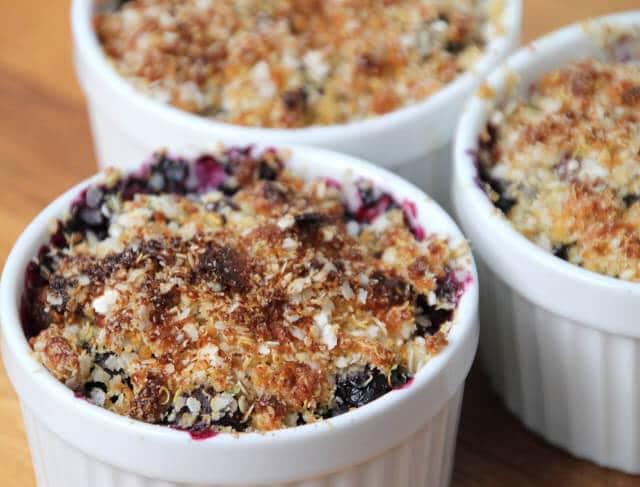 Gluten/Dairy/Egg Free Blueberry Crisp