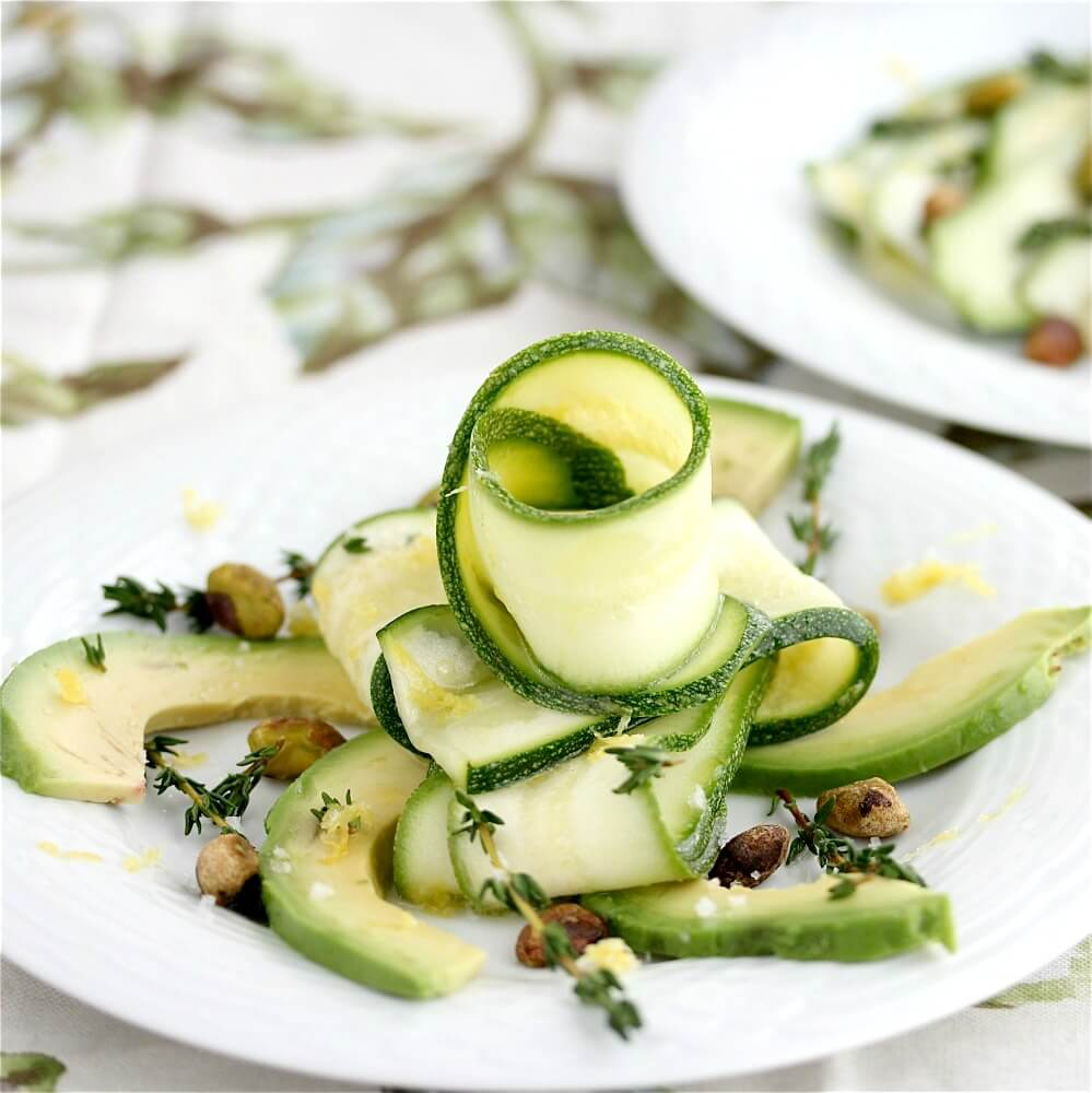 Zucchini Carpaccio Avocado Salad