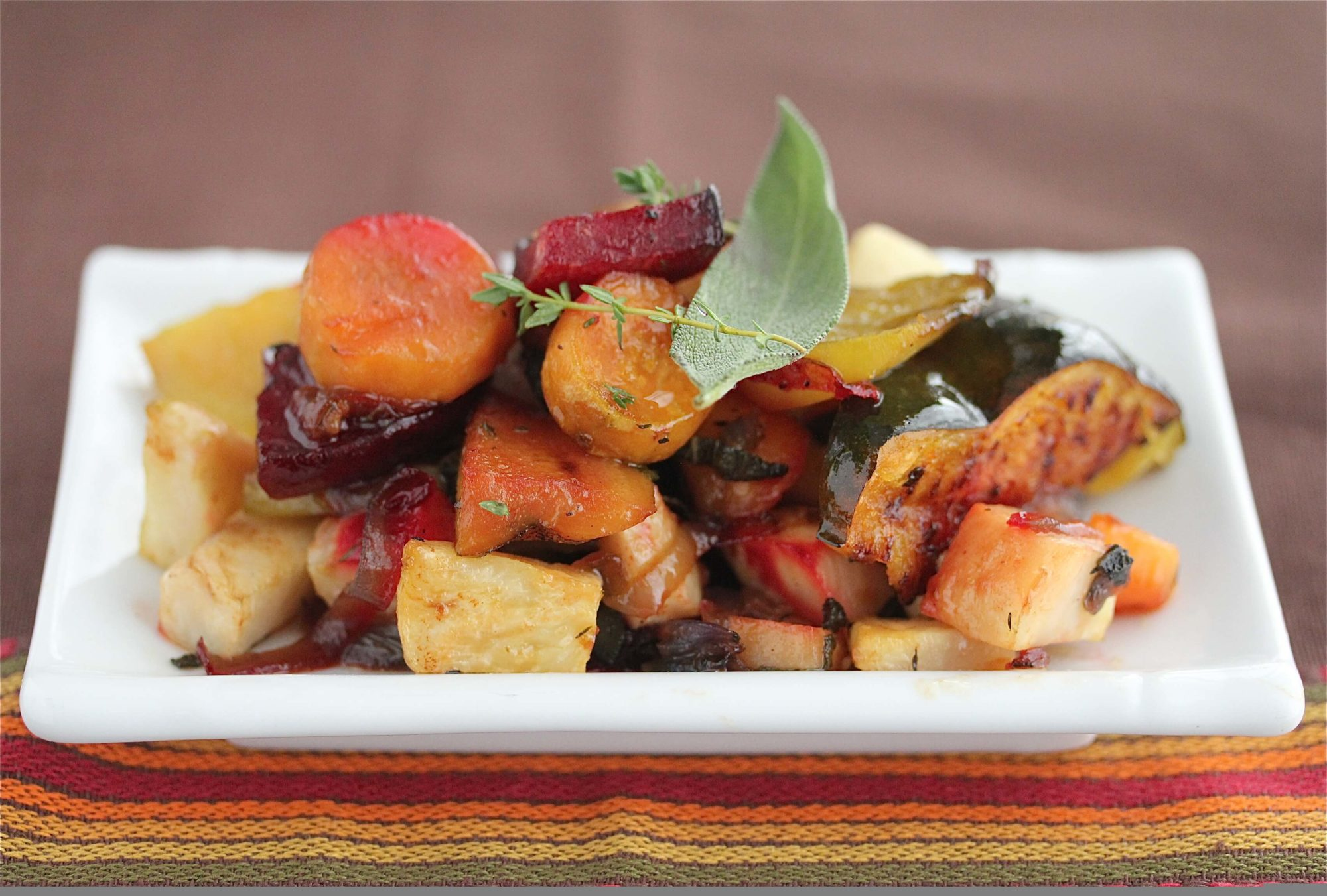 Easy Oven Roasted Vegetables with Sage and Thyme