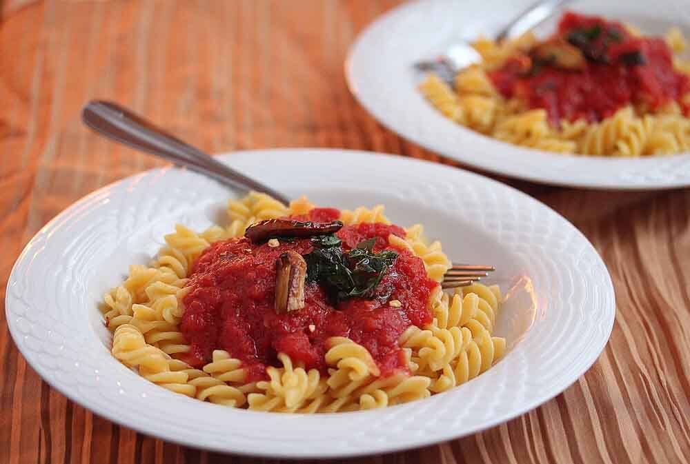 Penne all'Arrabbiata {Spicy Penne Pasta} Recipe – 50 Women Game Changers In Food – Ruth Rogers and Rose Gray