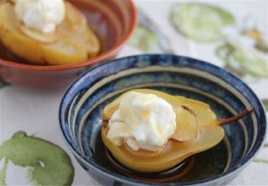 Steamed Ginger Pears