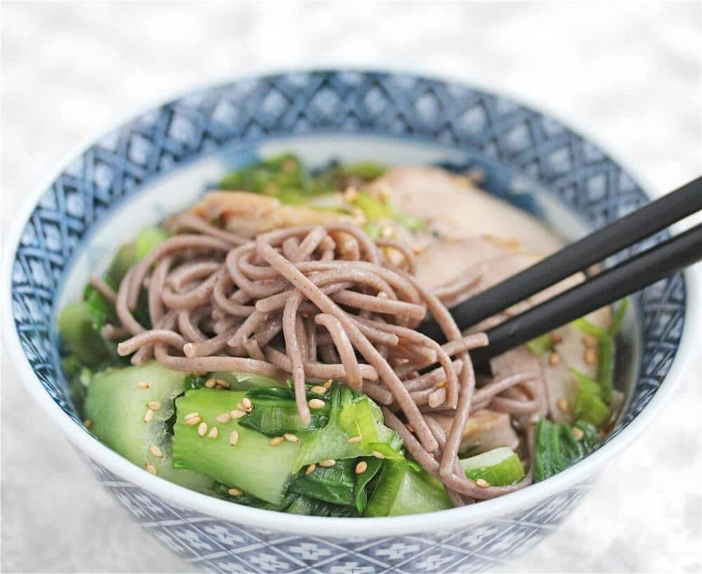 Recipe for Turkey Stock and Turkey Soba Noodle Soup - Jeanette's ...