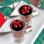 Dairy-Free Chocolate Mousse with PomegranateDairy-Free ChoDairy-Free Chocolate Mousse with Pomegranate Gelatin and Pomegranate Seedscolate Mousse with Pomegranate Gelatin