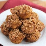 Whole Grain Pumpkin Streusel Muffins