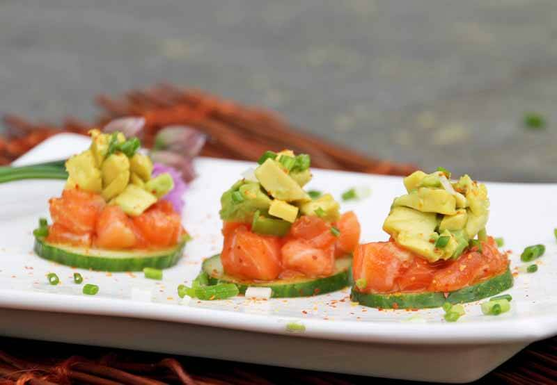 Soy Sesame Salmon Tartare with Avocado