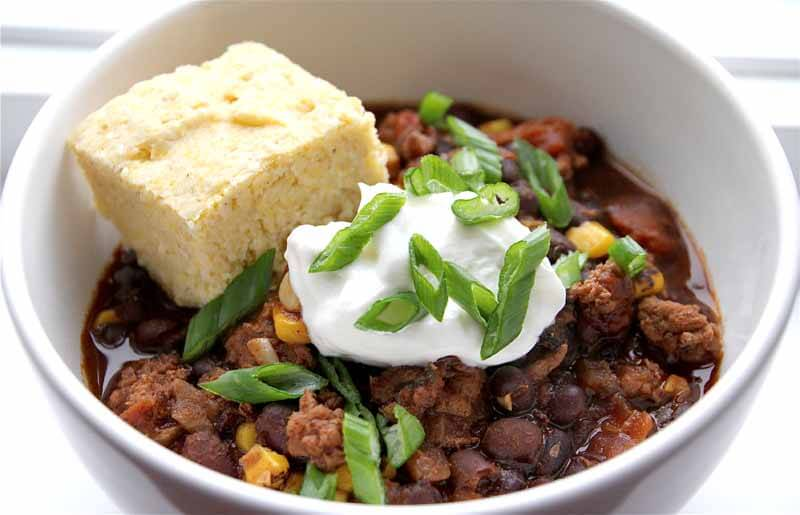 Turkey Black Bean Chili and Thai Chicken Corn Chowder Recipe