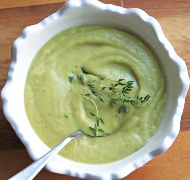 Creamy Roasted Cauliflower Chestnut Soup