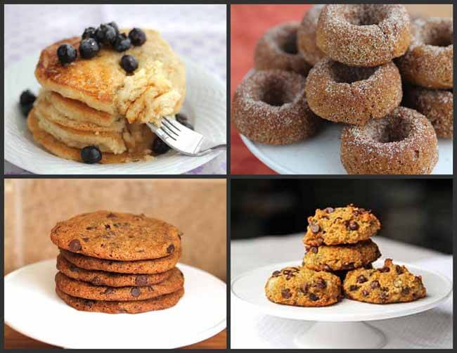 Pancakes, Cookies and Donuts made with Gluten-Free Flours