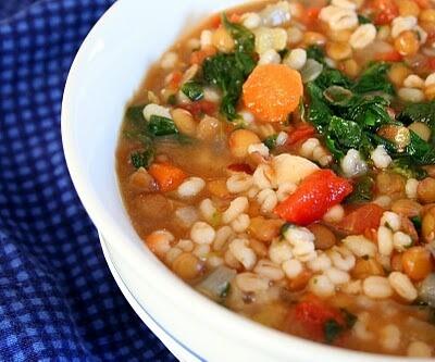 Cumin Lentil Barley Soup
