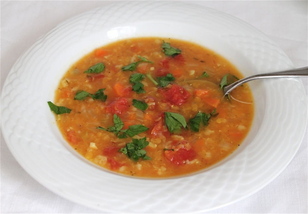 Simple Lentil Soup from Jeanette's Healthy Living