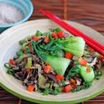 Stir-Fried Wild Rice with Mushrooms