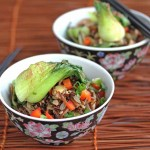 Stir-Fried Wild Rice with Mushrooms