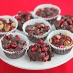 Dark Chocolate Walnut Pomegranate Clusters