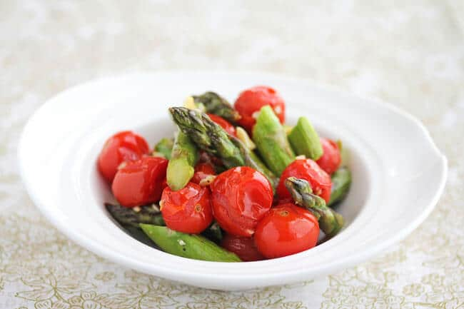 Recipe for Roasted Asparagus and Cherry Tomatoes