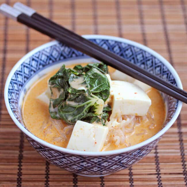 Red Curry Coconut Noodle Soup Recipe - Jeanette's Healthy Living