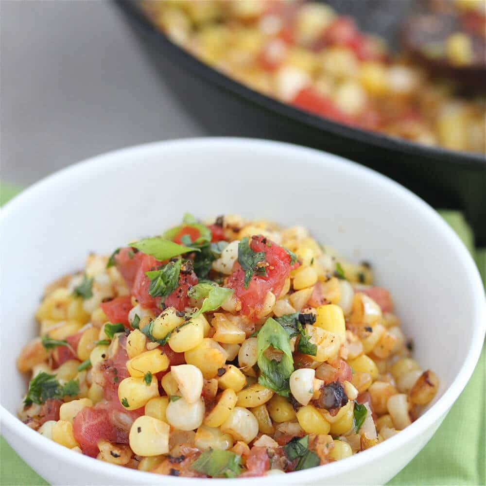 Warm Roasted Corn Salsa © Jeanette's Healthy Living