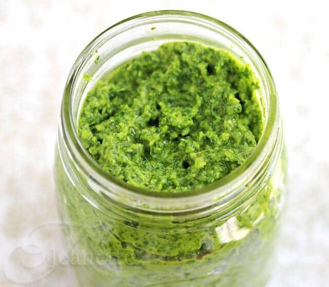Garlic Scape, Cilantro, Swiss Chard Pesto Recipe {CSA Box Recipe ...