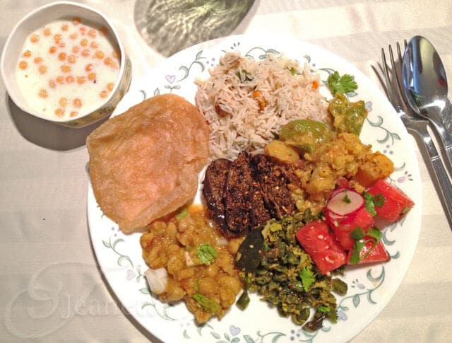 A Homemade Indian Vegetarian Feast