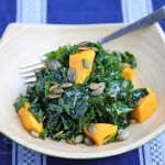 Massaged Kale Salad with Mango © Jeanette's Healthy Living