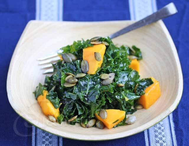 Massaged Kale and Mango Salad Recipe