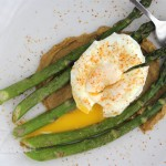 Roasted Asparagus and Poached Egg with Miso Butter