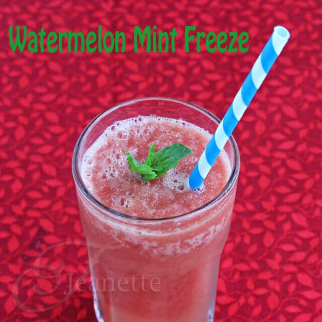 Watermelon Mint Freeze Recipe