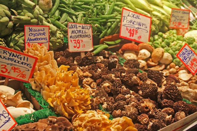 Mushrooms at Pike Place Market