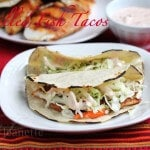 Grilled Fish Tacos with Chipotle Sauce