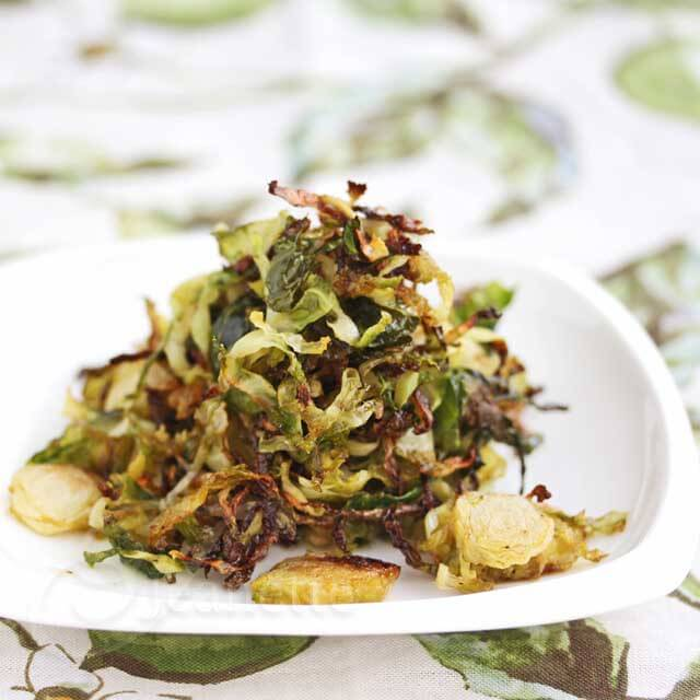 Roasted Brussels Sprout Chips