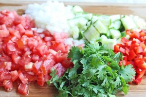Gazpacho Salsa Ingredients