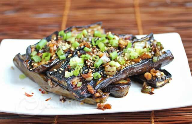 Asian grilled eggplant with soy sesame sauce recipe jeanettes asian grilled eggplant with spicy soy sesame sauce forumfinder Images