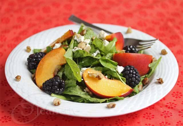 Peach Blackberry Arugula Salad Recipe - Jeanette's Healthy Living