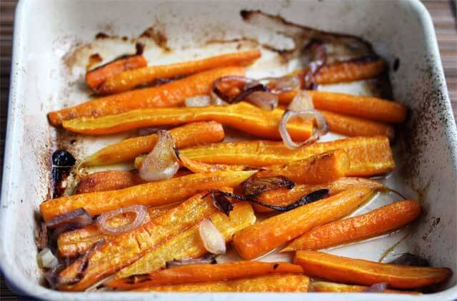 Roasted Carrots with Shallots