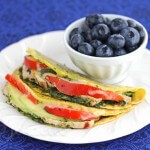 Chicken Tomato Avocado Quesadilla via Jeanette&#039;s Healthy Living