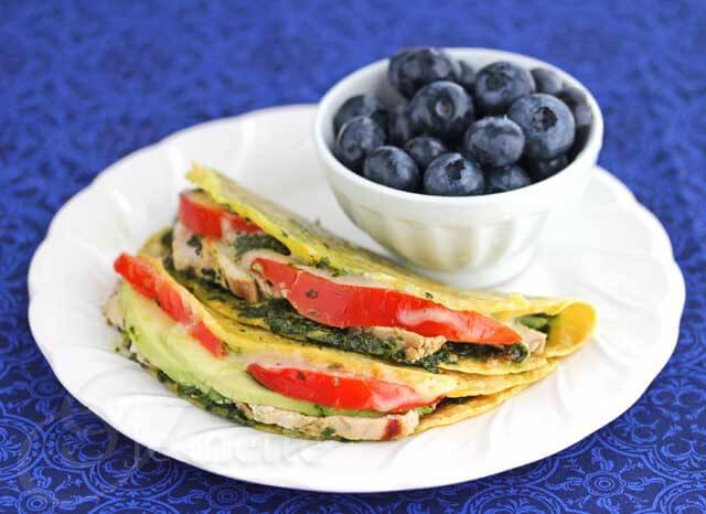Chicken Tomato Avocado Quesadilla via Jeanette's Healthy Living