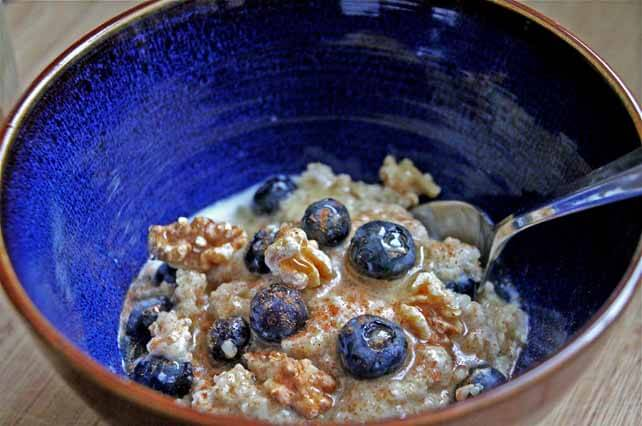 Creamy Coconut Quinoa With Blueberries