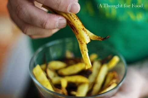 Parsnip Fries from A Food For Thought