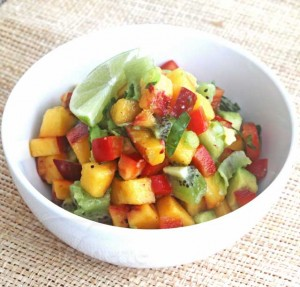 Peach Kiwi Salsa