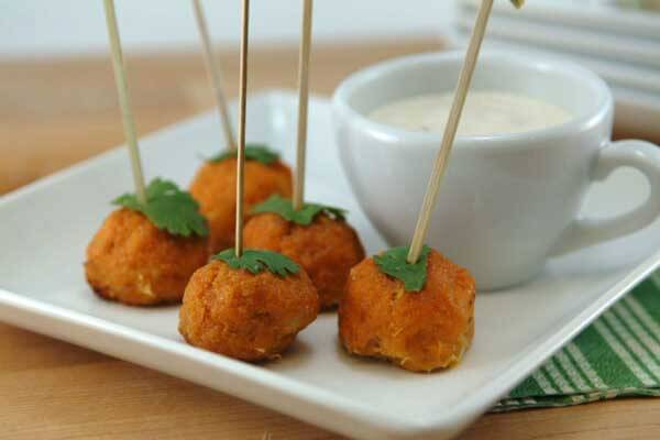 Mini Buffalo Chicken Meatballs from Whipped