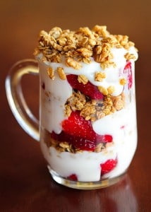 Strawberry Fruit and Yogurt Parfait from Kevin &amp; Amanda