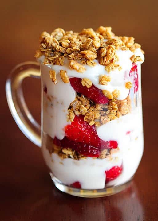Strawberry Fruit and Yogurt Parfait from Kevin & Amanda